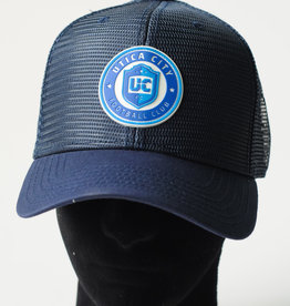 Sportiqe 6 Panel Trucker Hat Navy w/ Roundel Logo