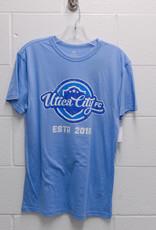 Top of the World Light Blue Tri-Blend T-Shirt w/ Retro UCFC Logo