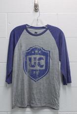 MV Sport Blue/Grey Raglan Shirt w/ Distressed UCFC Crest