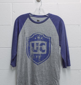 MV Sport Blue/Grey Raglan Shirt w/ Distressed UCFC Crest