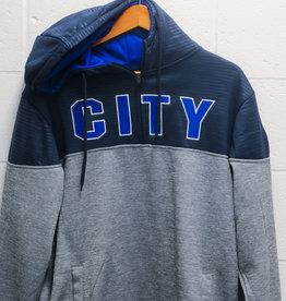 "Colosseum UCFC ""CITY"" Grey Hooded 1/4 Zip"
