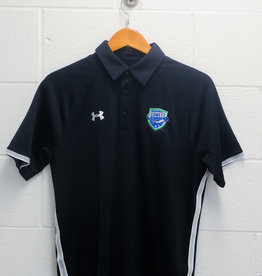 Under Armour Black Rival Polo w/ Comets Shield