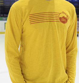 Utica Comets Copper 7 Series Men's Yellow Long Sleeve Shirt