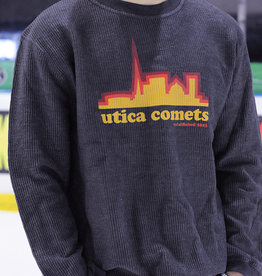 Utica Comets Copper 7 Series Grey Corduroy Crew