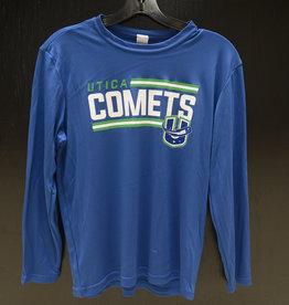 Sport Tek Youth Blue L/S T-Shirt w/ Comets U Logo
