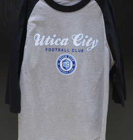 Sport Tek Youth UCFC Grey/Blue Raglan L/S T-Shirt