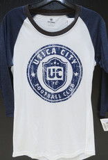 Top of the World J. America Women's White/Blue L/S Raglan Tunic w/ UCFC Roundel Logo