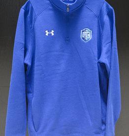 Blue Under Armour Fleece 1/4 Zip w/ UCFC Crest
