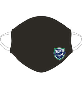 Utica Comets Face Covering (Black w/ Comets Logo)