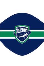Utica Comets Face Covering (Striped w/ Comets Logo)