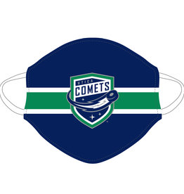 Utica Comets Face Covering (Striped w/ Comets Logo)