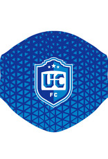 Utica City FC Face Covering (Blue Patterned w/ UCFC Logo)
