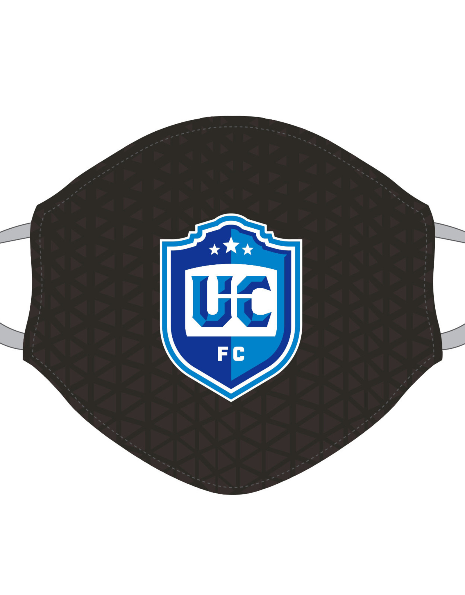 Utica City FC Face Covering (Black Patterned w/ UCFC Logo)