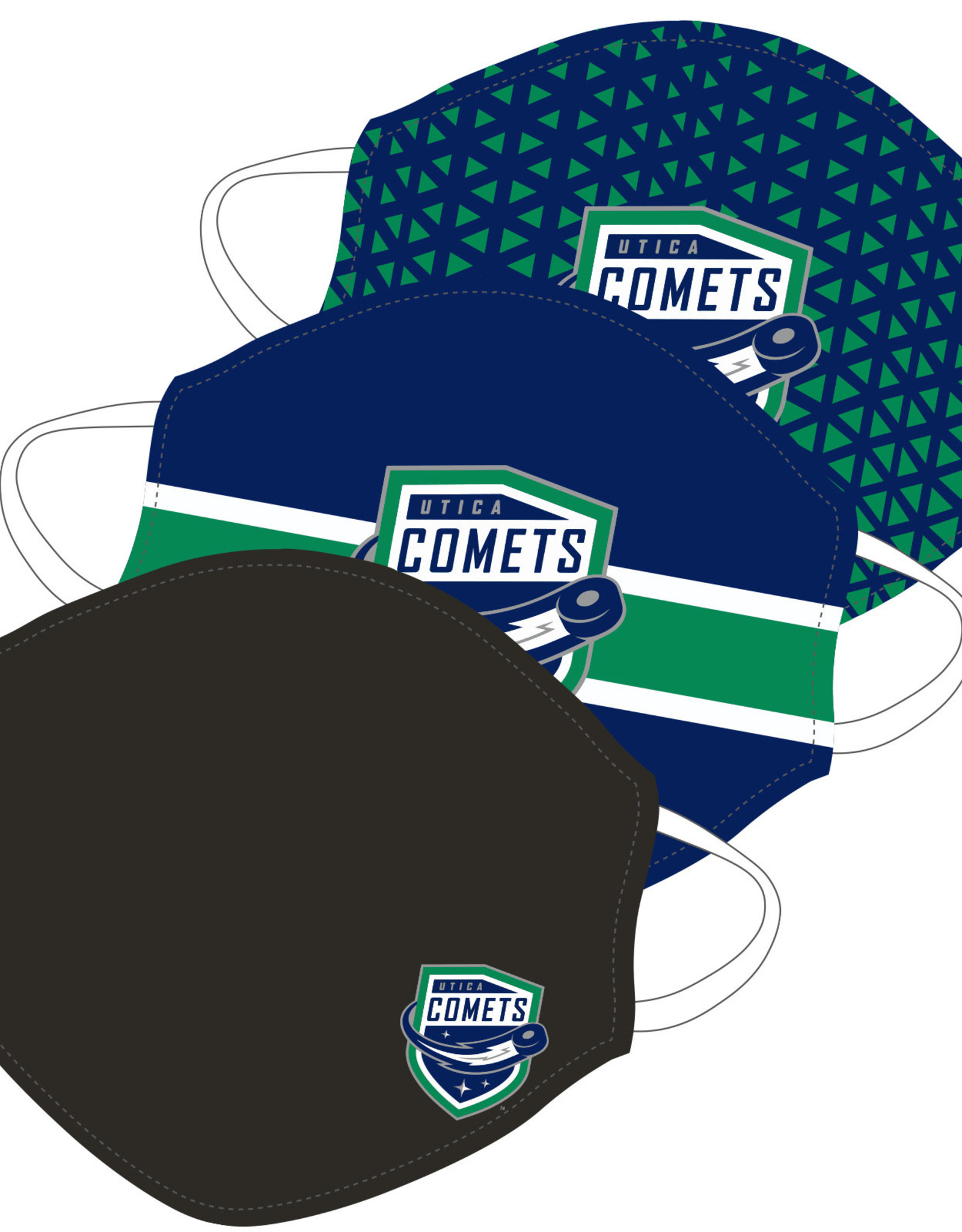 Utica Comets Face Covering 3-Pack