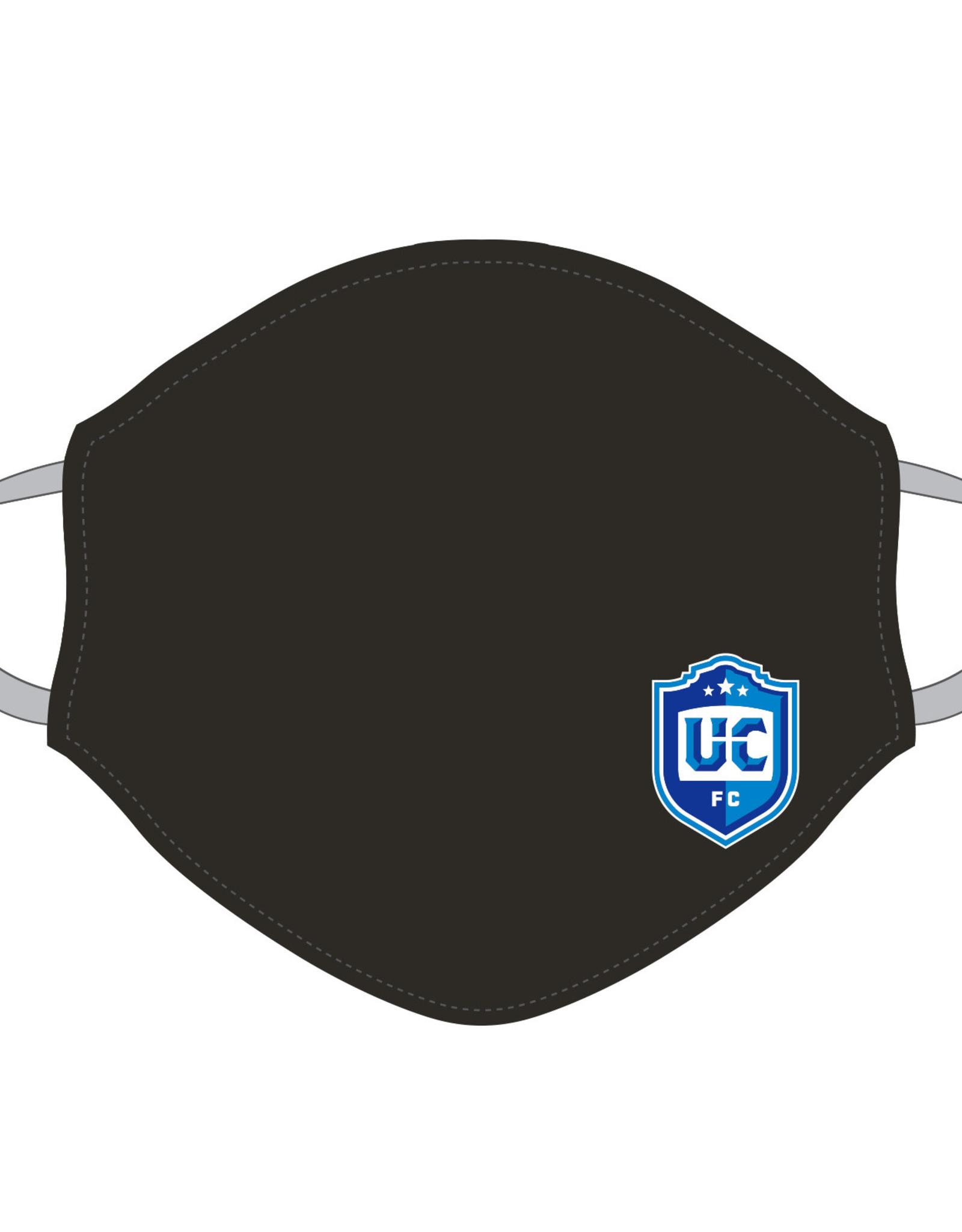 Utica City FC Face Covering (Black w/ UCFC Logo)