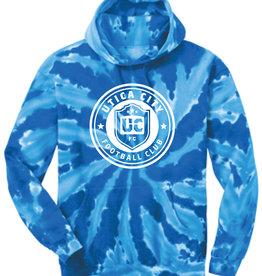 Utica City FC Youth Blue Tie Dye Hoodie