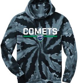 Utica Comets Youth Navy Blue Tie Dye Hoodie