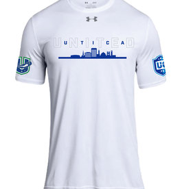 Utica 'United' White Loose Fit Under Armour T-Shirt