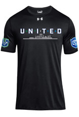 Utica 'United' Black Loose Fit Under Armour T-Shirt