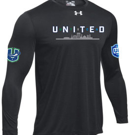 Utica 'United' Black Loose Fit Under Armour Long Sleeve