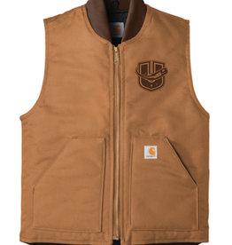 Utica Comets Brown Carhartt Full Zip Vest