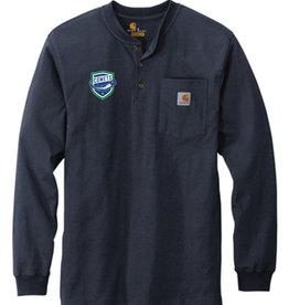 Utica Comets Navy Blue Carhartt Long Sleeve Henley Shirt