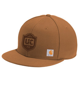 Utica City FC Brown Carhartt Flat Brim Snapback Hat