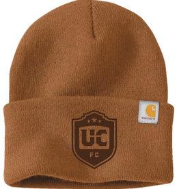 Utica City FC Brown Carhartt Beanie