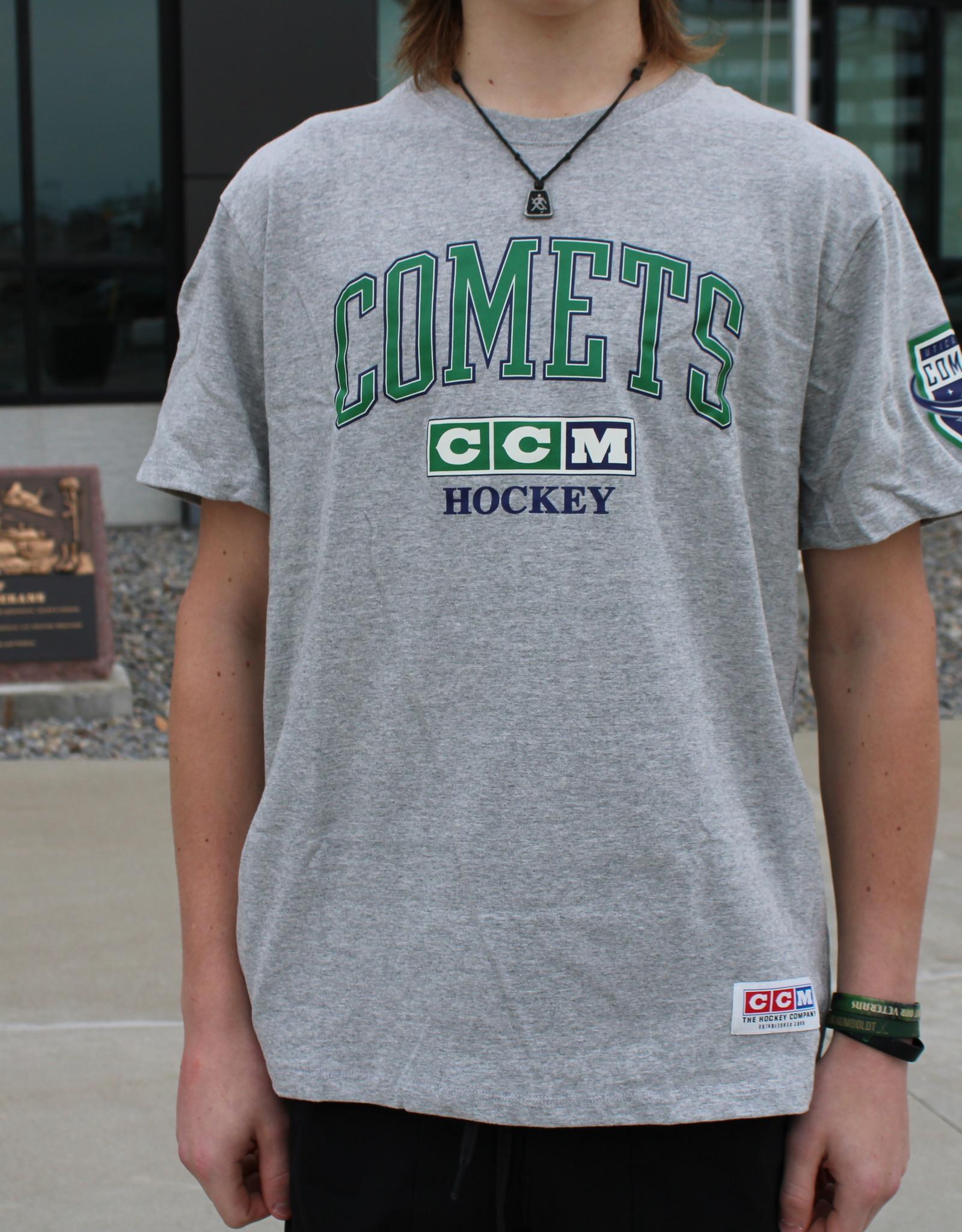 Utica Comets CCM Grey Practice Tri-Tee