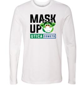 Youth Audie 'Mask Up' White Long Sleeve Shirt