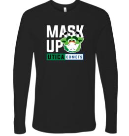 Youth Audie 'Mask Up' Black Long Sleeve Shirt