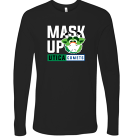 Audie 'Mask Up' Black Long Sleeve Shirt