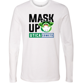 Audie 'Mask Up' White Long Sleeve Shirt