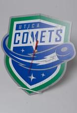Comets Logo Custom Shaped Clock