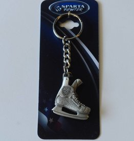 Sparta Pewter Metal Skate Keychain