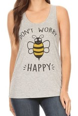 Bear Dance Dont Worry Bee Happy Tank