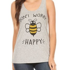 Bear Dance Dont Worry Bee Happy Tank