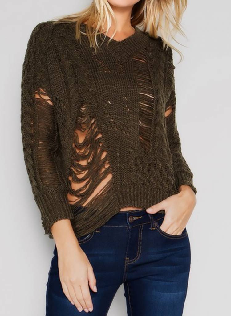 &Merci Rebel's Heart Sweater