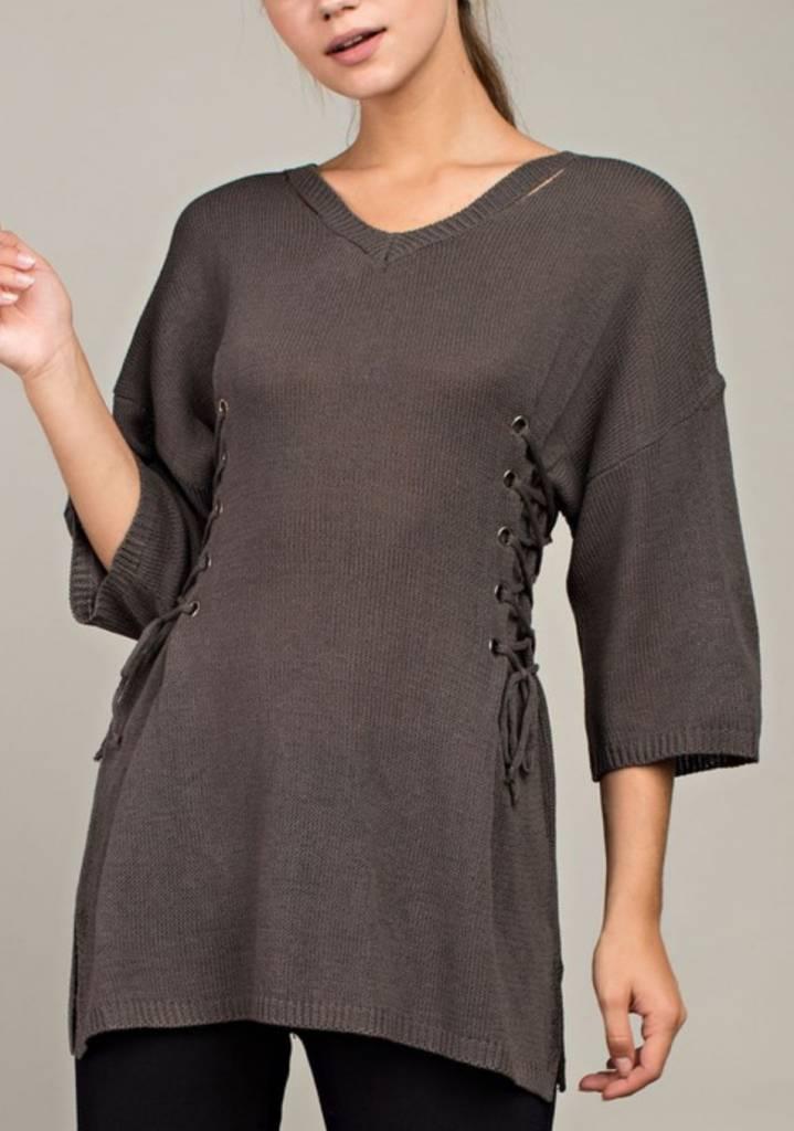 LLOVE Love Lace Sweater