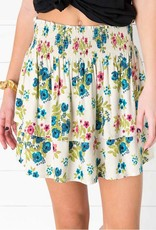 Natural Life Flirty Floral Skirt