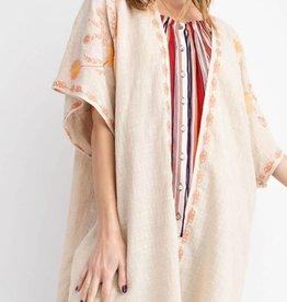 Easel Embroidered Elegance Kimono
