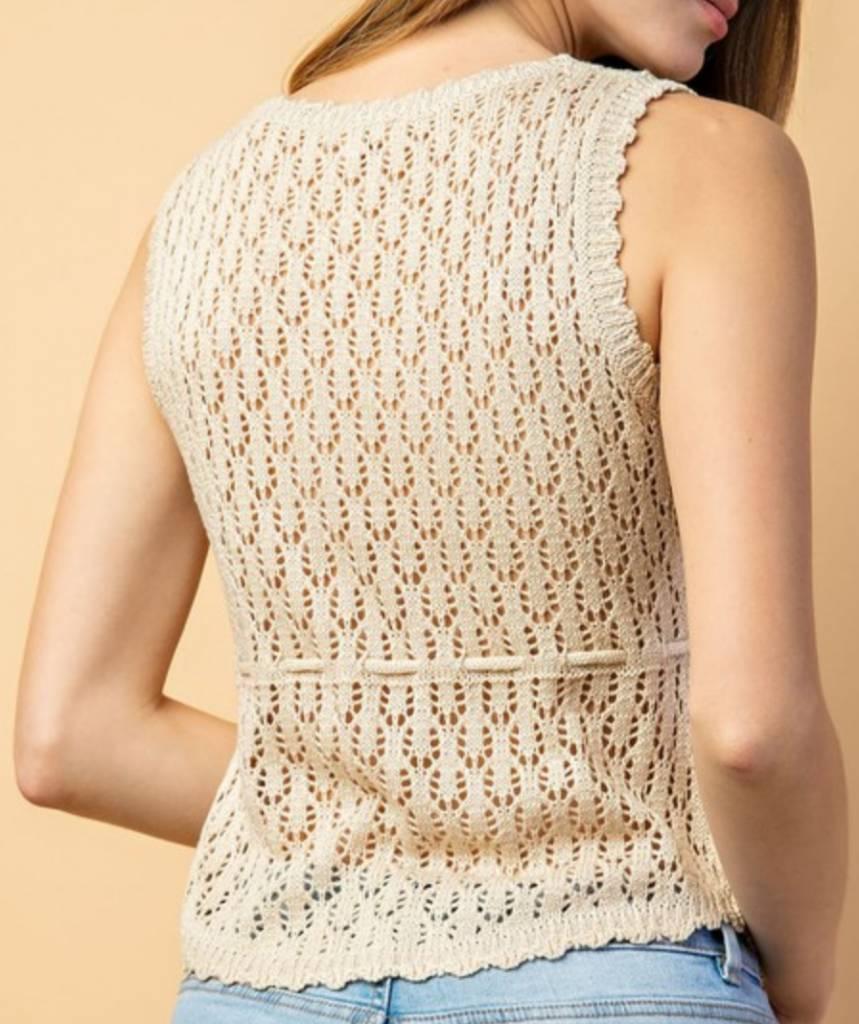 Le Lis Crochet Crazy Top
