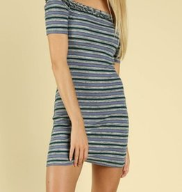 Honey Punch Iced Stripes Dress