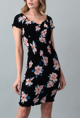 Heart & Hips Wrapped In Flowers Dress