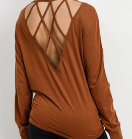 Mono b Criss Cross Fit Top