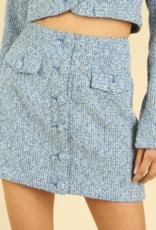 Honey Punch Top Of The Class Skirt