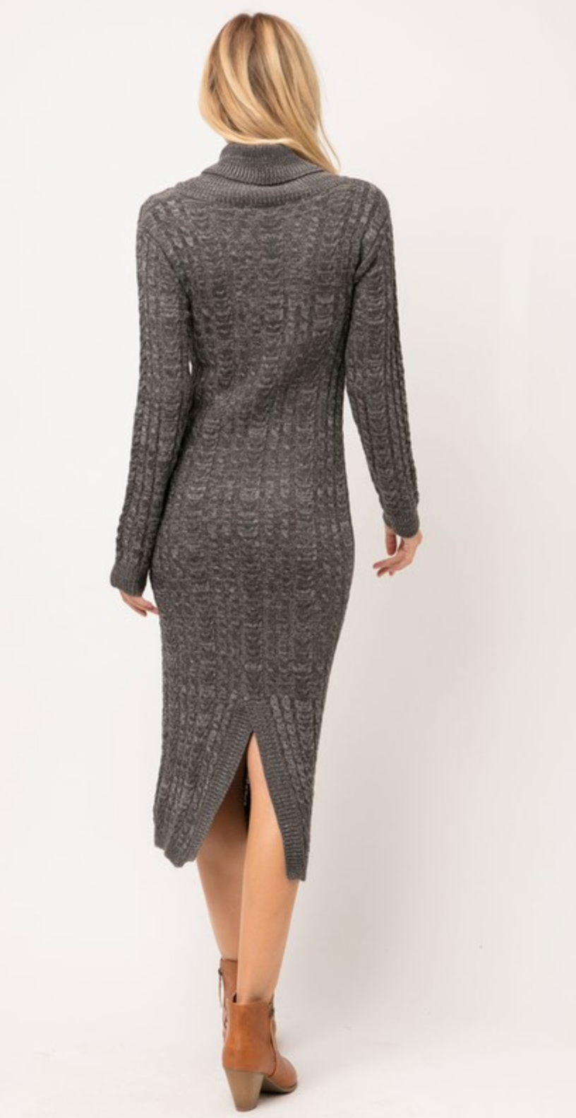 Cozy Casual Touch Of Grey Dress