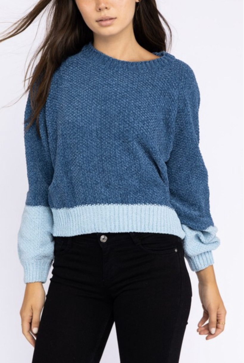 Le Lis Varisty Blues Sweater