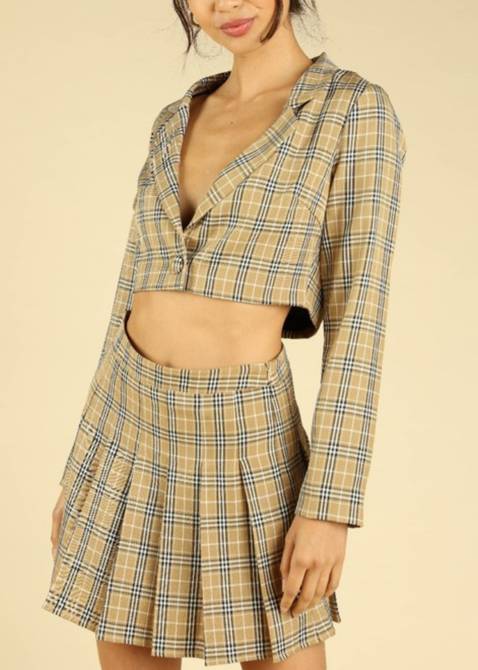 Honey Punch Totally Clueless Cropped Blazer