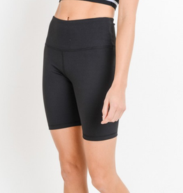 Mono b Highwaist Solid Short Leggings